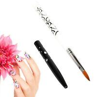 New Pro Acrylic Nail Art Brush Painting UV Gel Builder Pen Brushes Size 6