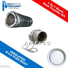 One Room Heat Transfer Kit - 150mm Inline Fan Turbo Kit  -Ventilation - Airefco