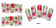 Nail Art Sticker Water Decals Transfer Flowers Roses Floral (DC172)