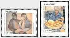 Timbres Arts Tableaux Paraguay 2791/2 ** année 1999 lot 21068