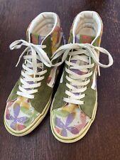 VANS Old Skool Women's Size 8 Green Purple Suede Hi Tops Sneakers Padded Floral