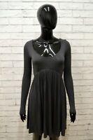 Vestito Abito Donna GUESS Taglia XS Dress Tubino Viscosa Manica Lunga Grigio