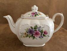 Windsor vintage Floral Teapot made in England 4405 cube tea