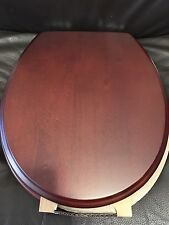 Porcher 71120-00.640 ROUND FRONT Antique cherry Finish Toilet Seat w/ PC Hinges