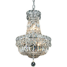 "Chrome Pendant Crystal Chandelier Dining Room Bedroom Foyer Fixture 6 Light 16"""