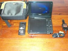 Sony DVP-FX730 Portable DVD Player 7-in Display Black W/ REMOTE & CARRYING CASE