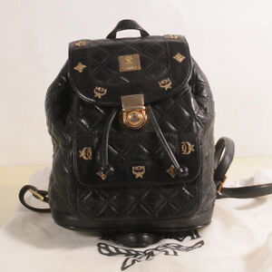 MCM Small Quilt Leather Backpack Authenticity + Dust Bag