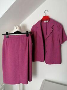 Eastex Ladies Suit Size 10 12 Dark Pink Skirt Jacket Bnwot pls read description