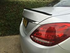 Mercedes Classe C W205 Boot Lip Spoiler 2014-2016 AMG Look Vendeur Britannique