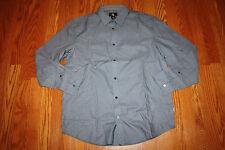 NEW Mens CALVIN KLEIN Blue Gray Life Style Long Sleeve Dress Shirt M Medium