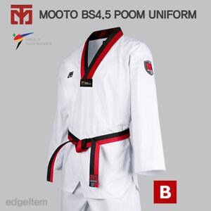 MOOTO BS4.5 Uniform with Poom V-Neck (Black&Red) TKD Basic Season 4.5 WT Dobok