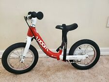 Woom 1 Kids Balance Bike - Red with carry strap