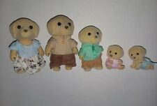 EPOCH CALICO LABRADOR DOG FAMILY FIGURES TWINS