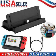 Charger Dock Station Stand + Type-C To USB Charging Cable For Nintendo Switch US