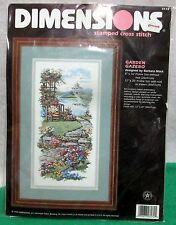 """New Dimensions """"GARDEN GAZEBO"""" Stamped Cross Stitch Kit - #3172-NIP"""