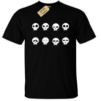 DEATH SKULL FACES T-Shirt Mens S-5XL rock goth skulls biker