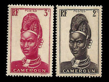 CAMEROUN. Mandara Woman. 1939. Scott 225-226. MNH (BI#38)