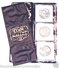 H.E.Harris 12 Pocket Coin Wallet for 2x2 Holders Storage Album NEW