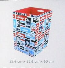 LARGE FOLDABLE LAUNDRY AND STORAGE BIN CONVOY TRUCK CARS TRAINS PLANES 60CM TALL