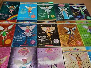 Lot of 10 Rainbow Magic Fairies Children's Kids Chapters Books RANDOM MIX