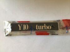 AUTOBIANCHI Y10 TURBO SCRITTA POSTERIORE  REAR BADGE OLD STOCK ORIGINALE