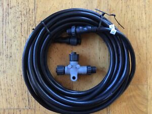 NMEA 2000 cable with T connector, 6m length. New, unused.