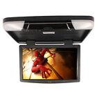 "New 15.6"" Flip Down TFT LCD Monitor Car Roof Mount Monitors Black TV"