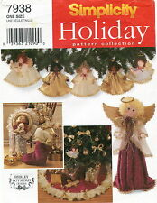 Simplicity 7938 Christmas Decorations Sewing Craft Pattern Ornaments Stocking ++