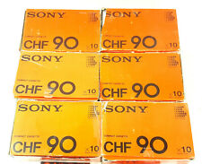 Vintage Sony CHF-90 Minute Recordable Cassette Tapes ROCK BLUES Lot of (60) USED