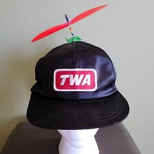 RARE- TWA Airlines Satin Snapback Hat- InterStellar Propeller- Beanie USA (L)