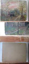 Vintage Print,OIL PAINTING,Farm Scene,Early 20th Cent