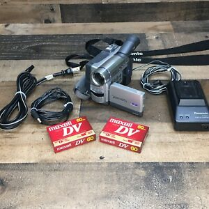 Panasonic Mini DV Video Camera PV-DV203D Camcorder with Accessories *Tested*