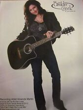 Amanda Martin, Boulder Creek Guitars, Full Page Vintage Promotional Print Ad