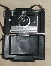 POLAROID MODEL195 LAND CAMERA IN CASE Vintage original leather strap NOT TESTED