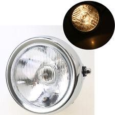 Chrome 6.5'' Headlight Head Lamp Universal for Harley Honda Yamaha Suzuki GN 125