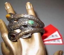 VALENTINO GARAVANI 90's Bracelet Snake Bronze with Stones Unworn