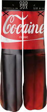 Odd Sox Coke Cocaine Soda Cola Pop Sublimated Casual Crew Socks 6-13 NWT