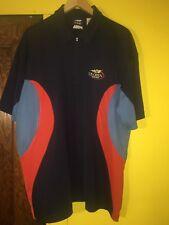 Fila 2002 Men's Us🇺🇸🎾 Open Tennis Navy Officials Shirt Slim Fit Size Large L