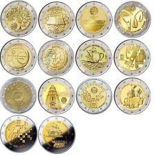 Portugal 2 euro commemorate coins 2007 - 2015, UNC Portogallo Португалия 葡萄牙 FDC