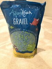 Aqua Town Gravel, fish tank colourd gravel, green and blue, all water types, 2kg