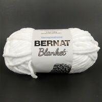 1 Skein White Bernat Baby Blanket Knitting Yarn 100% Polyester 5.3oz 00755