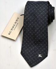 NEW Burberry Indigo Color Mans Silk/Cotton Tie 100% Authentic Italy Made 032507