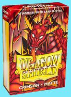 60 DRAGON SHIELD CRIMSON MATTE JAPANESE Card Sleeve Mini Deck Protector vanguard