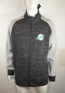 Fanatics Miami Dolphins Men's Jacket 2XL NFL Team Apparel Gray Black NWT