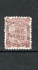 New Zealand 1897-98 2d chocolate Life Insurance Department FU CDS