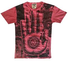 Men T Shirt Buddha Palm Hindu India Hobo Boho Hippie Eye mistery Sz M RARE Sure