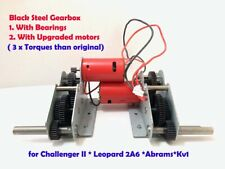 steel gearbox with Bearings & Upgraded Motor for HL Challenger & Leopard 2A6 ...