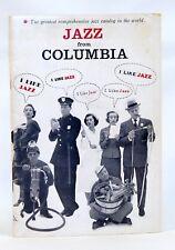 JAZZ FROM COLUMBIA Records Catalog Circa Late50's Bix Beiderbecke Dave Brubeck