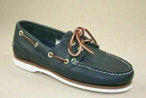 Timberland Classic 2 Eye Womens Classic Boat  Shoes Md Blue Full Grain  72332