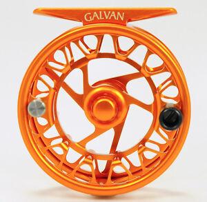 GALVAN BROOKIE B 2/3 ULTRA LIGHTWEIGHT LARGE ARBOR FLY REEL RARE BURNT ORANGE